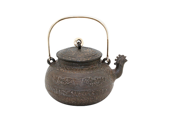 饕餮鳳凰口鉄瓶のイメージ画像