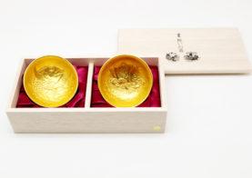 祝いの盃セット(金箔)のイメージ画像